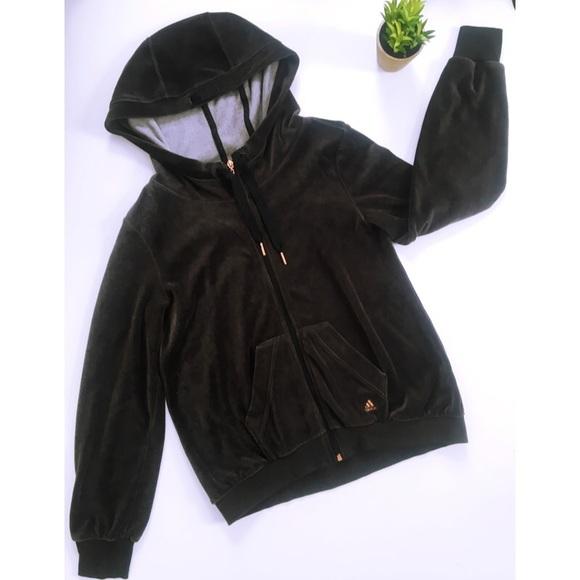 Velvet adidas jacket